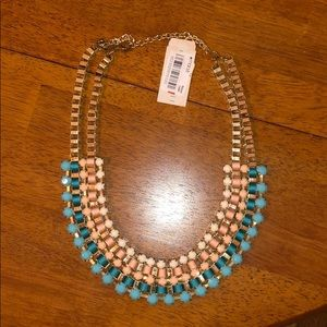 NWT- never worn Macy's double loop gold necklace